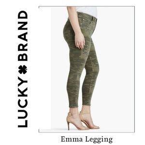 Lucky brand Emma leggings camo green jeans